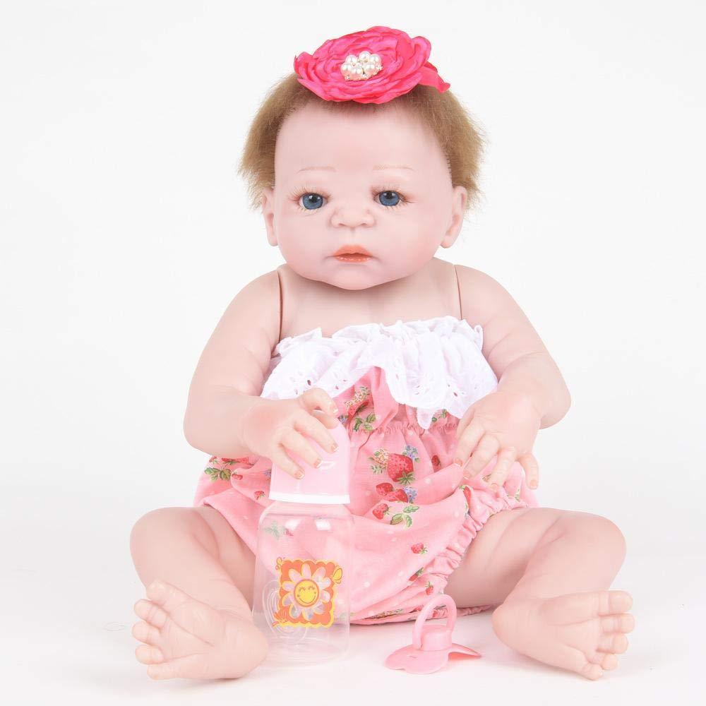 Hongge Reborn Baby Doll,Realistische Silikon Wiedergeburtspuppe Kinder können Mädchen Spielzeug Geschenk 58cm ändern