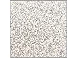 """American Crafts Patterned Glitter Cardstock 12""""X12""""-Swirl/Silver  15 per pack"""