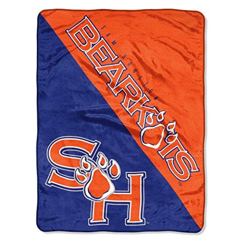 Houston Blanket - The Northwest Company Officially Licensed NCAA Sam Houston State Bearkats Halftone Micro Raschel Throw Blanket, 46