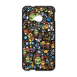 HTC One M7 Cell Phone Case Black_Animals Many Bseuu