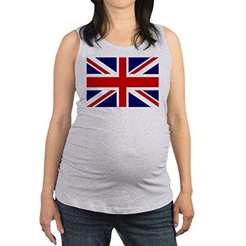 Royal Lion Women's Maternity Tank Top British English Flag HD - Ash Grey, - Pregnancy Kate Middleton Fashion