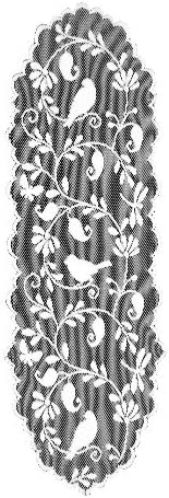 Heritage Lace Bristol Garden Table Runner, 14 x60 , Caf
