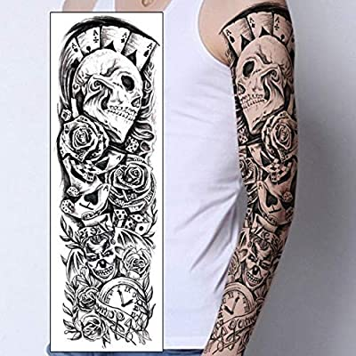 adgkitb 3 Piezas Tatuaje Temporal Manga de Brazo Completo Tatuaje ...