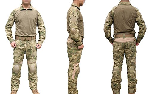ATAirsoft(TM) Emerson Military Men Paintball Hunting BDU Uniform Combat Gen2 Suit Shirt & pants with Elbow Knee Pads AT-FG (XXL) (Emerson Gen2 Combat compare prices)