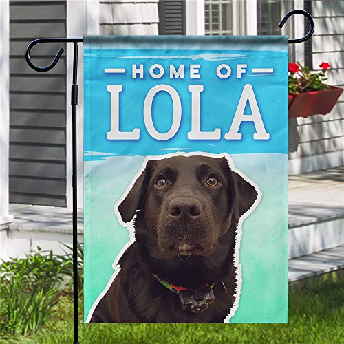 - JURU Funny Single-Sided Custom Garden Flag - Home of Lola - Without Flagpole 12