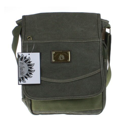 Small Canvas Messenger Bag Great for Commuters - Students or Professionals - (Lightweight Travel Courier Bag)