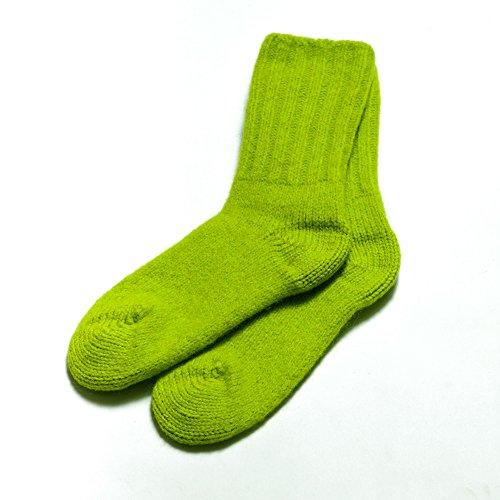 Dachstein Woolwear 100% Austrian Boiled Wool Warm Alpine Calf Socks in Many Colors (6, Neon Green)