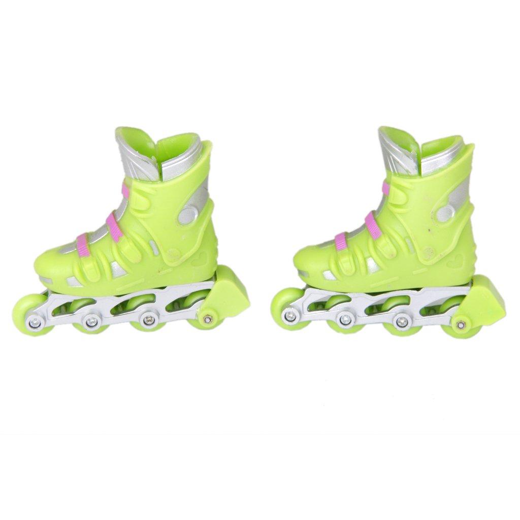 1Pair Finger Roller Mini Rollerblade Skate Toys Mini Skating Kid Toys