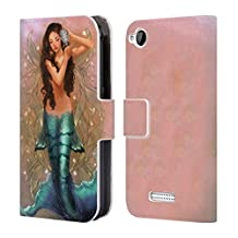Official Renee Biertempfel Daena Ocean Goddess Leather Book Wallet Case Cover For HTC Desire 320