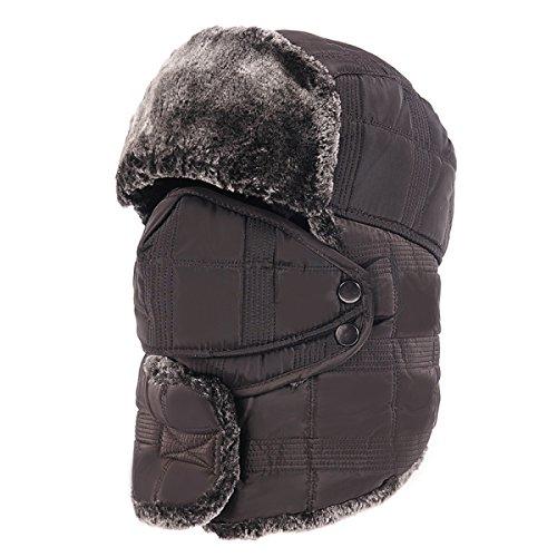 Flap Aleta De Cálido A Para De Sombreros De Unisex Prueba gris Trooper Invierno Máscara Sombrero Esquí Invierno Caza Hombre Viento Sombrero Bombardero Oreja vStf7wqU
