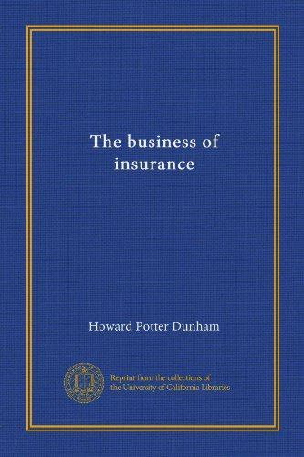 Download The business of insurance Pdf