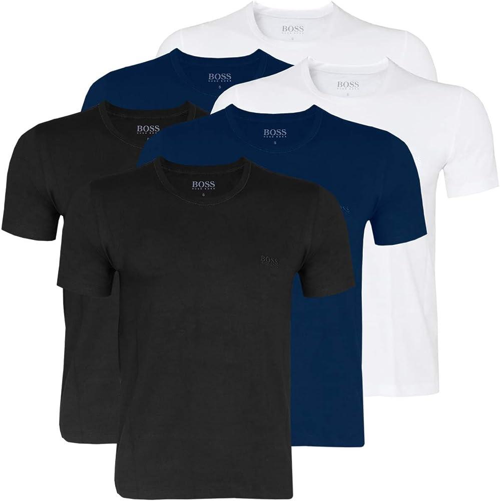 Hugo Boss 50325887 - Camisetas para Hombre (6 Unidades) -480 Azul/Blanco/Negro. XXL: Amazon.es: Ropa y accesorios