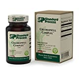 Standard Process - Chlorophyll Complex - 335 IU Beta Carotene Vitamin A Supplement, Supports Cardiovascular Health, Skin and Hair, Immune System, and Antioxidant Activity, Gluten Free - 240 Perles