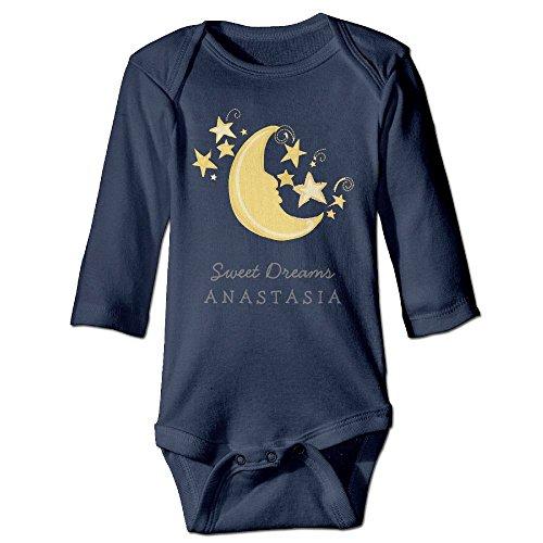 Richard Unisex Toddler Bodysuits Custom Name Dreams Baby Blanket Pink Boys Babysuit Long Sleeve Jumpsuit Sunsuit Outfit 18 Months Navy