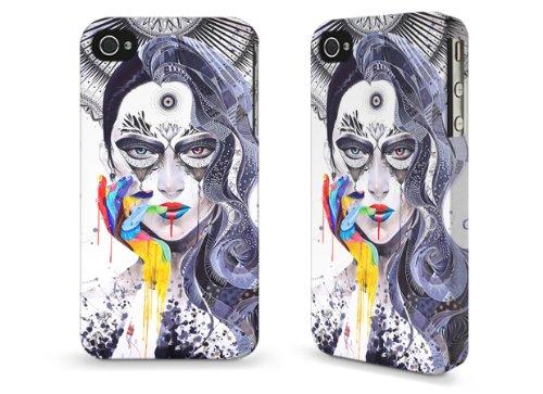"""Hülle / Case / Cover für iPhone 4 und 4s - """"Janus"""" by Minja Lee"""