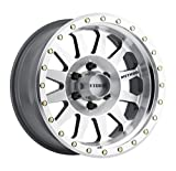 Method Race Wheels Double Standard Machined/Clear Coated Wheel with Machined Finish and Zinc Plated Accent Bolts (18x9''/5x5'', -12mm offset) -12 mm offset