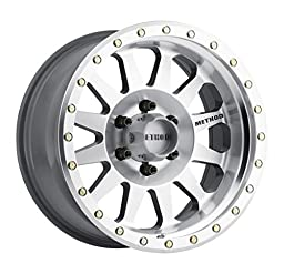 Method Race Wheels Double Standard Machined/Clear Coat Wheel with Machined Finish and Zinc Plated Accent Bolts (17x8.5\
