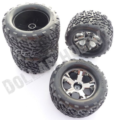Traxxas Stampede 2WD VXL * 4 TALON TIRES & ALL STAR WHEELS 12mm Hex Black