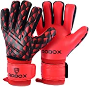 Goalkeeper, Soccer Goalie Gloves with German Latex Palm for Better Grip and Fingersaves for Ultimate Protectio