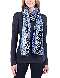 Ladies Lightweight Wool Scarf,Blue,One Size