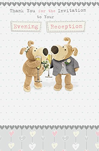 Boofle Evening Reception Acceptance Card UK Greetings