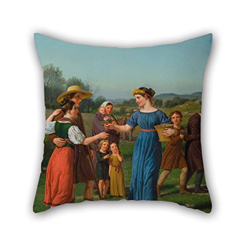 [Beautifulseason Oil Painting Christoffer Wilhelm Eckersberg - 'The Maiden From Afar' From The Poem By Schiller Throw Cushion Covers 20 X 20 Inches / 50 By 50 Cm For Bf,christmas,wife,drawing] (Bull Rider Costume Toddler)