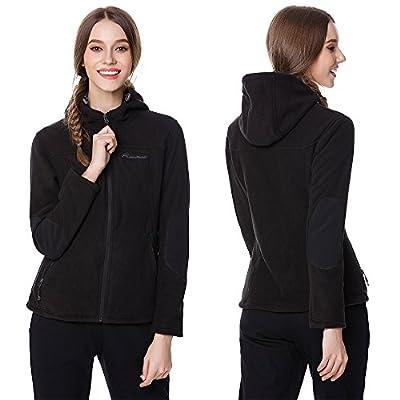 OutdoorMaster Women's Fleece Jacket - Waterproof & Stain Repellent, Ultra Soft Plush Lining & Optional Hoodie - Full-Zip at Women's Coats Shop