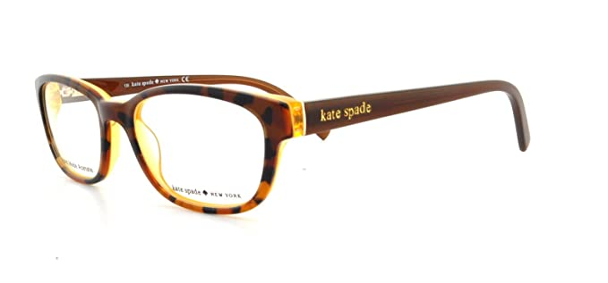 Amazon.com: Kate Spade Blakely Eyeglasses-0JMD Tortoise Gold-50mm ...