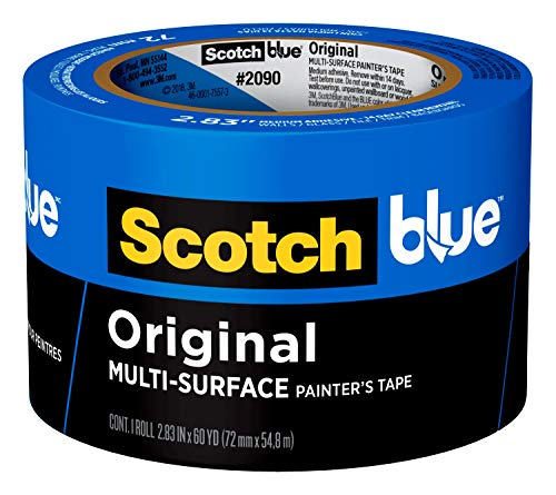 - ScotchBlue Original Multi-Surface Painter's Tape,  2.83 inch x 60 yard, 2090, 1 Roll