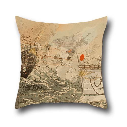 throw-cushion-covers-of-oil-painting-ogata-gekko-sino-japanese-war-the-japanese-navy-victorious-off-