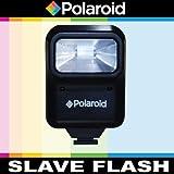Polaroid Studio Series Pro Slave Flash Includes Mounting Bracket For The Nikon 1 J1, J2, J3, V1, V2, S1, D40, D40x, D50, D60, D70, D80, D90, D100, D200, D300, D3, D3S, D700, D3000, D5000, D3100, D3200, D7000, D5100, D4, D800, D800E, D600, D7100, D5200 Digital SLR Cameras