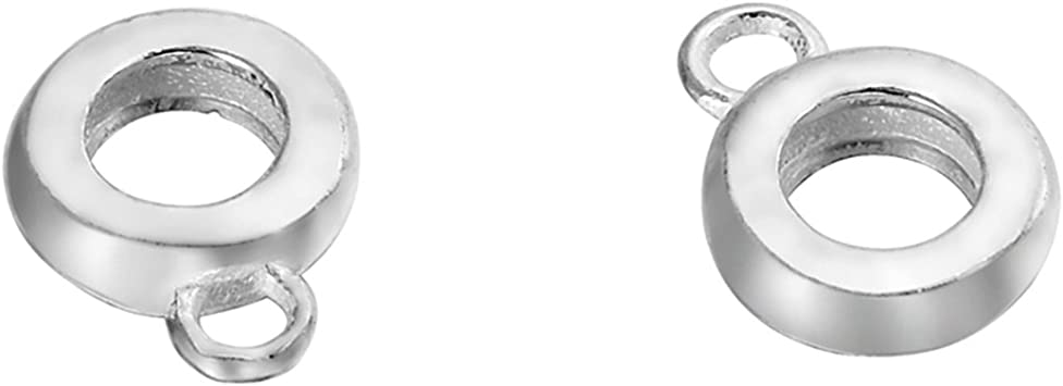 Sterling Silver 4mm BeadaholiqueCA Bail to Attach Charm Bead