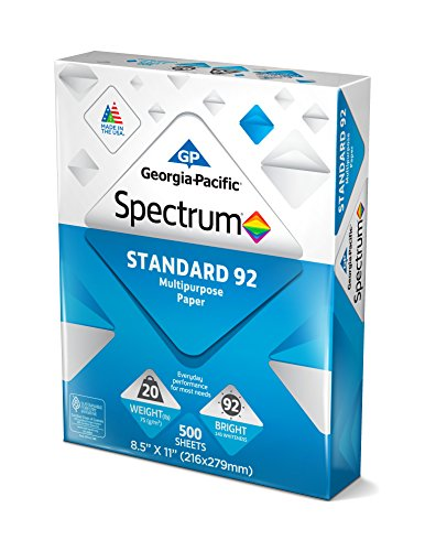 Large Product Image of Georgia-Pacific Spectrum Standard 92 Multipurpose Paper, 8.5 x 11 Inches, 1 box of 3 packs (1500 Sheets) (998606)