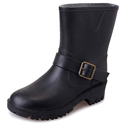 Botas de Agua Mujer Impermeables Botas de Lluvia Bota de Goma Antideslizante Wellington Boots Chelsea Jardín Trabajo Lluvia Botines: Amazon.es: Zapatos y ...
