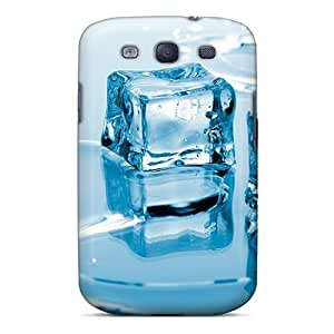 Durable Case For The Galaxy S3- Eco-friendly Retail Packaging(blue Ice Cubes)