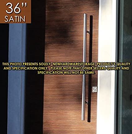 Pull Push 36 Inches Handles For Entrance Entry Front Door, Interior And  Exterior, Satin