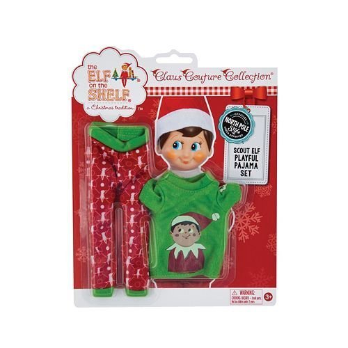 Blue Polyester Parka Set (The Elf on the Shelf Scout Elf Playful Pajama Set Claus Couture)