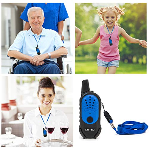 CallToU Kids Mini Walkie Talkie for Boys Girls Two Way Radio Camping/Hiking/Hunting Caregiver Pager for Elderly 16 Channels 4 Miles Rechargeable by CallToU (Image #1)