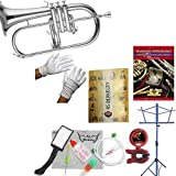 RS Berkeley flu669 Signature Series Silver Plated Flugelhorn with case & Bonus RSB MEGA PACK w/Standard of Excellence Book