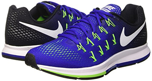 Nike Air Zoom Pegasus 33, Zapatillas de Running Para Hombre Azul (Concord / White-Black-Elctrc Grn)