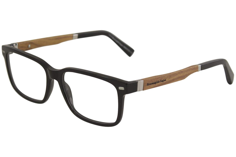 149d75e8c3fa Amazon.com: Ermenegildo Zegna EZ5078 Eyeglass Frames - Shiny Black Frame,  55 mm Lens Diameter EZ507855001: Clothing