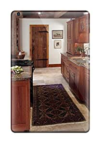 Leana Buky Zittlau's Shop Case Cover, Fashionable Ipad Mini Case - Cathedral Kitchen Counters Facing Rustic Wood-paneled Hallway Door 9258472I27273259