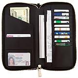 ZIVIONA Women's Large Capacity Genuine Leather Zip-Around Wallet Clutch Travel Purse