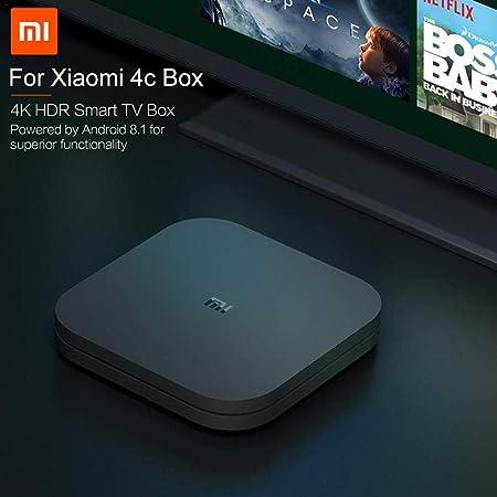 Smart TV Box Establecer Android 8.1 Media Player Top Box 4K Home Voice Box: Amazon.es: Hogar