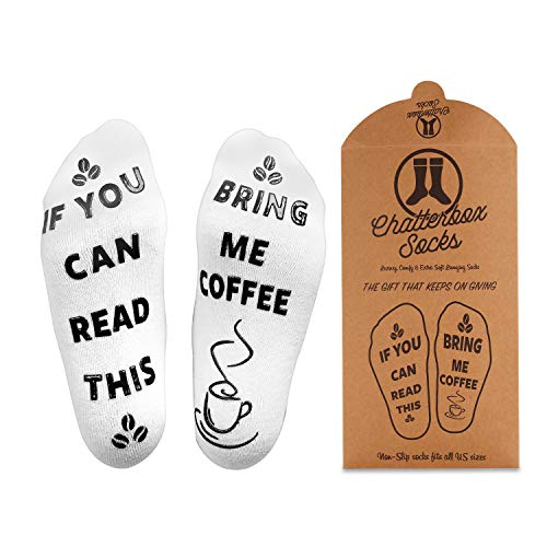 Champagne Creamer - If You Can Read This Bring Me Wine, Beer, Coffee, Chocolate & Champagne Socks