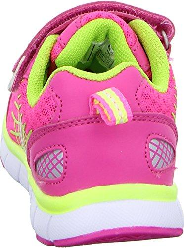Sneakers Mädchen Halbschuh Klettverschluss Sneaker Pink Neongeld