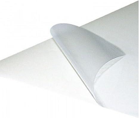 Papel adhesivo transparente. impresión láser 30 hojas a4: Amazon ...