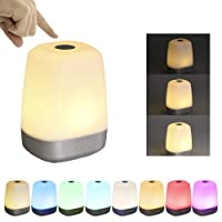 Wake Up Light Glime Sunrise Electronic Alarm Clock LED Music Touch Sensor 16 Million Colors Dimmable Light