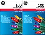 GE Miniature Multicolor 100 Count String Lights (Multi-Pack of 2)