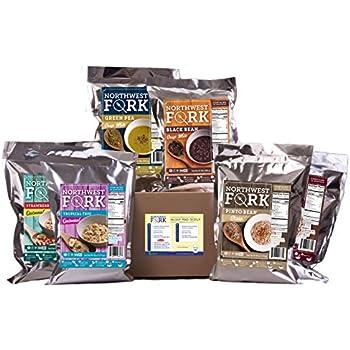 NorthWest Fork Gluten-Free 30 Day Emergency Food Supply (Kosher, Non-GMO, Vegan) - 10+ Year Shelf Life - 90 Servings